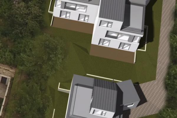 III. kerület Aranyhegyi új építésű Minimál stílusú 3 szintes garázsos ikerházak és 1 db. önálló családi ház.